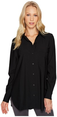 Lysse - Schiffer Stretch Microfiber Button Down Women's Long Sleeve Button Up $108 thestylecure.com