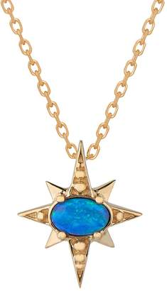 Celine Daoust Baby Opal Sun Necklace - Yellow Gold