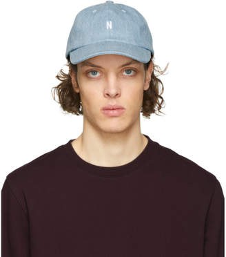 Norse Projects Blue Denim N Sports Cap