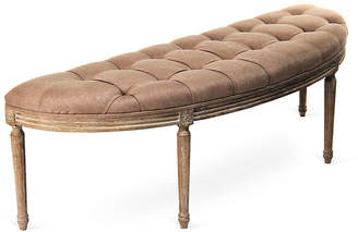 One Kings Lane Hugo Curved Bench - Copper