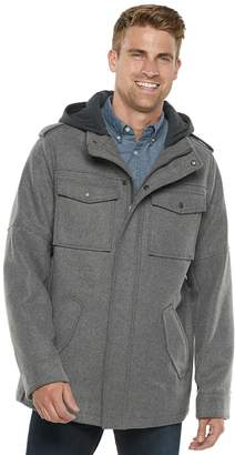 Levi's Levis Big & Tall Wool-Blend Hooded Four-Pocket Military Jacket