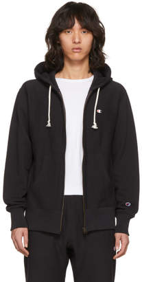 Champion Reverse Weave Black Warm-Up Zip Hoodie