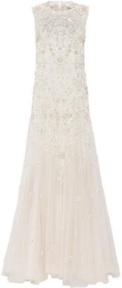 Needle & Thread - Bridal Lace-trimmed Embellished Tulle Gown - Ivory $1,495 thestylecure.com
