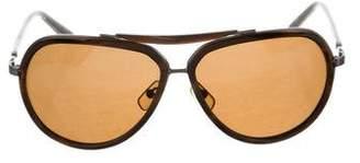 Calvin Klein Collection Aviator Tinted Sunglasses