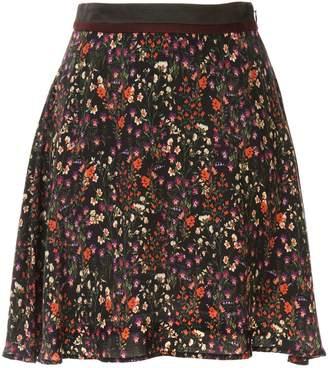 Loveless high waist floral pattern skirt