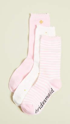 Kate Spade 3 Pack Bridesmaids Crew Socks