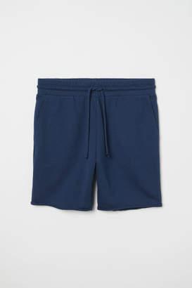 H&M Raw-edged Sweatshorts - Blue