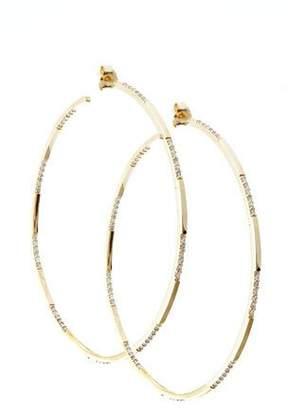 Lana 14k Gold Expose Large Diamond Hoop Earrings
