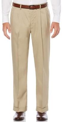 Savane Pleated Stretch Crosshatch Dress Pant