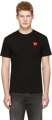 Comme des Garçons Play Black Heart Patch T-Shirt $100 thestylecure.com