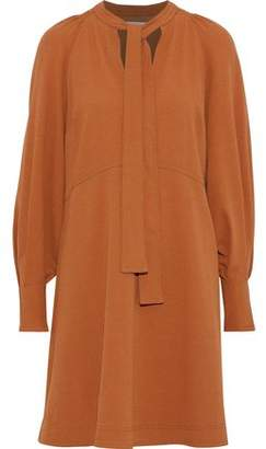 See by Chloe Pussy-Bow Washed-Crepe Dress