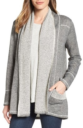 Women's Caslon French Terry Cardigan $59 thestylecure.com