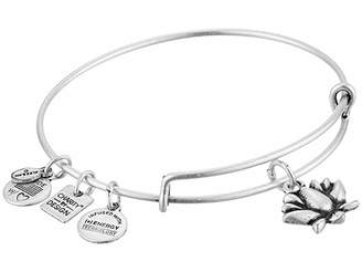 Alex and Ani Lotus Blossom Charm Bangle