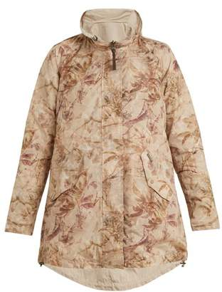 Woolrich Reversible Palm Print Shell Jacket - Womens - Beige Print