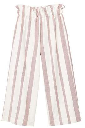 MANGO Striped crop trousers