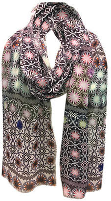 Laundry by Shelli Segal Tile Embroidered Scarf