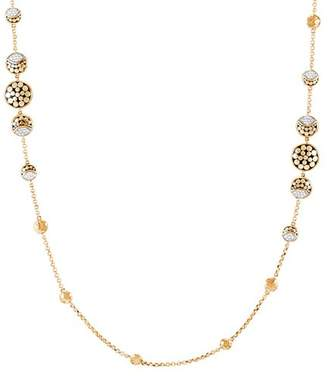 John Hardy Hammered 18K Yellow Gold Dot & Pavé Diamond Necklace, 36""