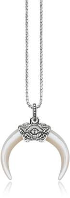 Thomas Sabo Rebel Icon Sterling Silver Necklace with Mother of Pearl Pendant