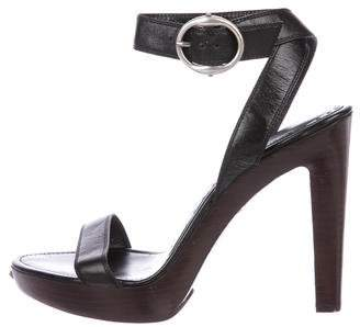 Saint Laurent Leather Ankle Strap Sandals