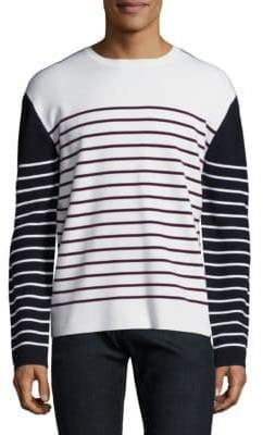 Burberry Colorblock Striped Pullover