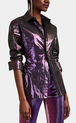 Area Women's Coated Cotton Lamé Blouse - Purple