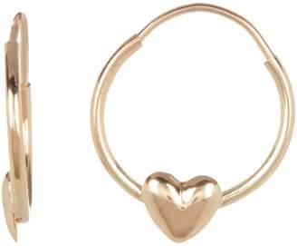 Candela 14K Yellow Gold Heart Hoop Earrings