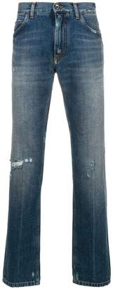 Dolce & Gabbana distressed design jeans