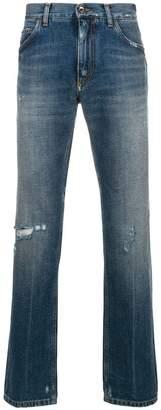 Dolce & Gabbana distressed design jeans