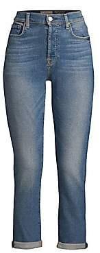 7 For All Mankind Women's Josefina High-Waist Rolled Hem Jeans