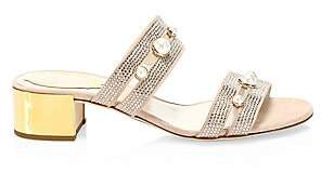 Rene Caovilla Women's Pearl Mid-Heel Sandals