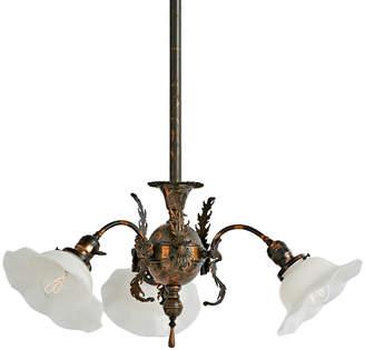 Rejuvenation Three-Light Victorian Chandelier w/ Copper Flash Finish