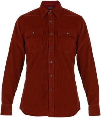 Prada Corduroy Shirt - Mens - Red