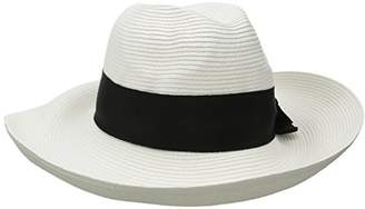 Physician Endorsed Women's Adriana Toyo Straw Fedora Packable Sun Hat