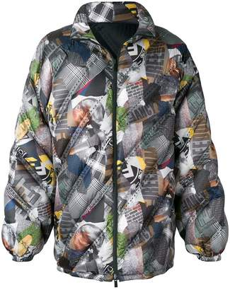 Fendi printed padded jacket