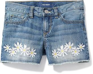 Daisy-Patch Denim Cut-Offs for Girls $22.94 thestylecure.com