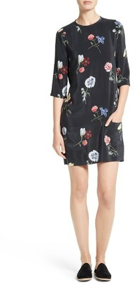 Women's Equipment Aubrey Silk Shift Dress $298 thestylecure.com