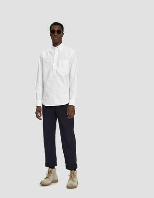 Engineered Garments Fatigue Cotton Double Cloth Pant in Dark Navy