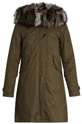 WOOLRICH JOHN RICH & BROS. Literary Eskimo fur-trimmed canvas parka $1,462 thestylecure.com