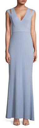 Calvin Klein Cutout Strap Jersey Gown