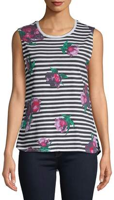 French Connection Women's Jude Floral Sleeveless Cotton Top