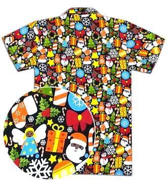 9b69abe8 Virgin Crafts Christmas Hawaiian Shirts for Men Santa Claus Party Casual  Tropical Beach Shirt
