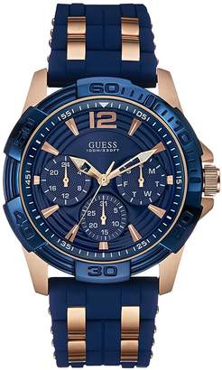 OASIS Men's blue textured silicone strap watch