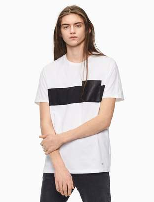 Calvin Klein regular fit striped pocket t-shirt