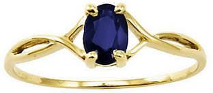 QVC Birthstone Oval Solitare Ring, 14K Gold