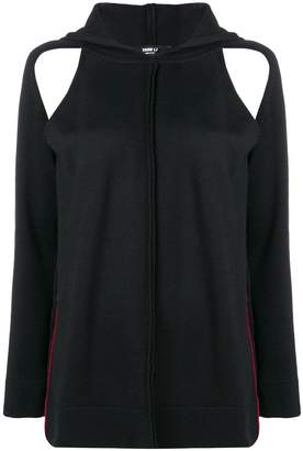 Yang Li cut-out knitted hoodie