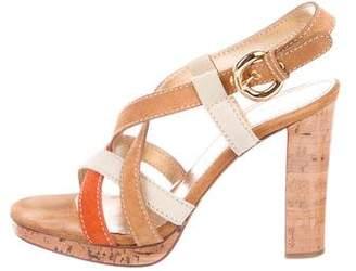 Casadei Suede Crossover Sandals