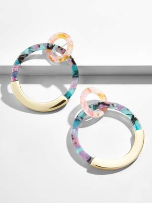 BaubleBar Daniya Resin Hoop Earrings
