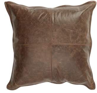 Villa Home Collection Parsons Leather Accent Pillow