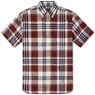 Beams Short Sleeve Popover Madras Check Shirt