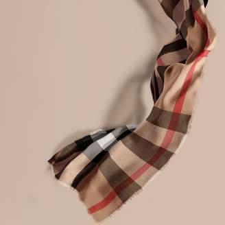 Burberry Extra-long Lightweight Cashmere Check Scarf